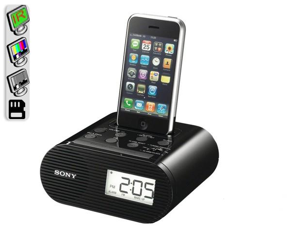 Our Sony iPhone Dock Spy Camera IS Professional Grade And Features Invisable Night Vision....
