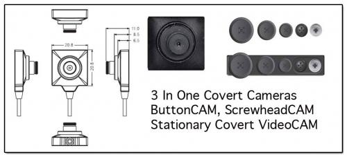 best button spy cameras